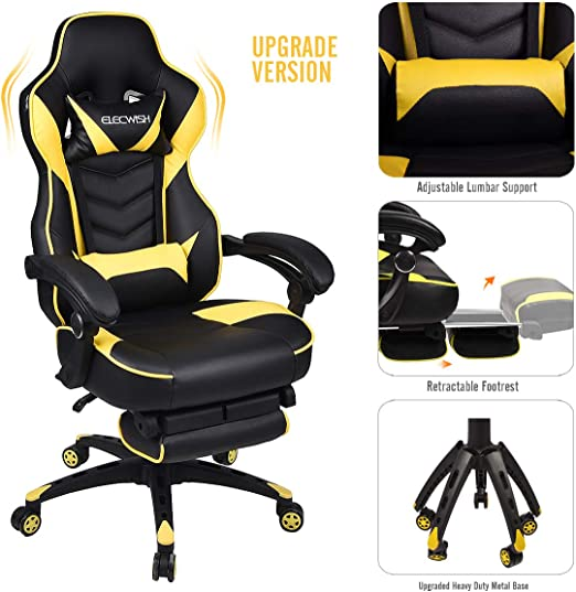 Business Office Industrial Supplies Office Chairs Yellow Pu Leather Tub Armchair Home Office Furniture Fade Resistant Brand New Constructoramyv Cl