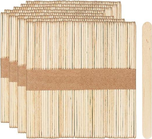 com-four® 400x Palitos de madera para helados, paletas y helados ...