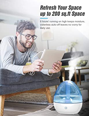 Cool Mist Humidifier - Humidifier for Bedroom