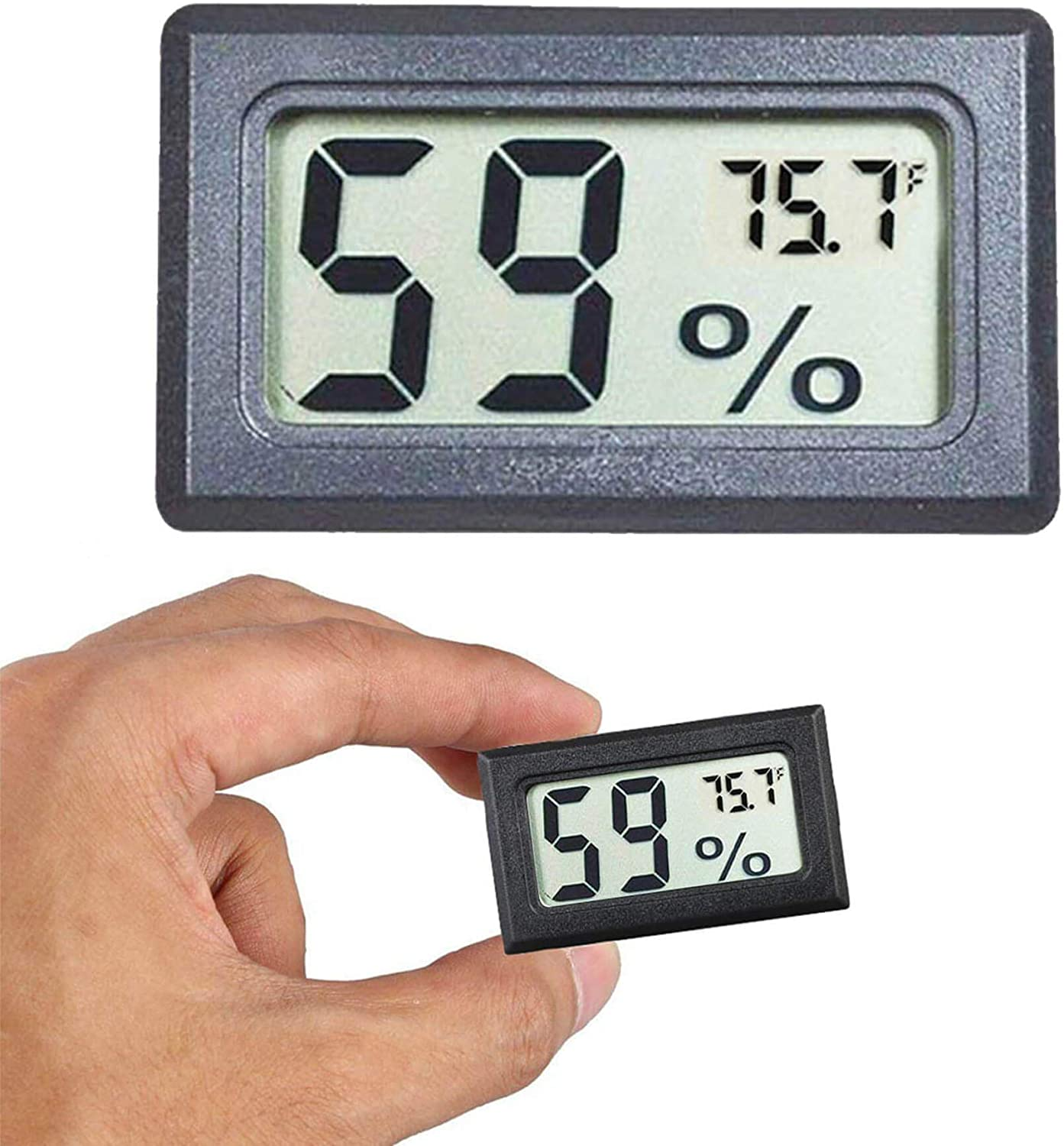 Amazon.com: Goabroa Mini Hygrometer Thermometer Digital Indoor Humidity  Gauge Monitor with Temperature Meter Sensor Fahrenheit (℉): Home & Kitchen