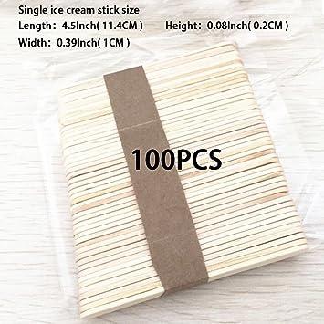 Varillas de madera para manualidades, 100 unidades, palos de ...