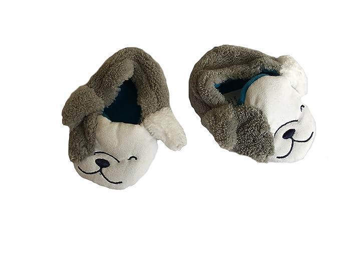 0642ebdca Child of Mine by Carters Puppy Newborn Baby Slip-On Infant Prewalker Crib  Slippers with