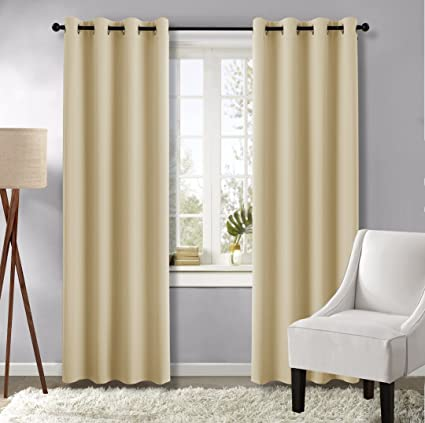 Amazon.com: NICETOWN Bedroom Window Curtains and Draperies ...