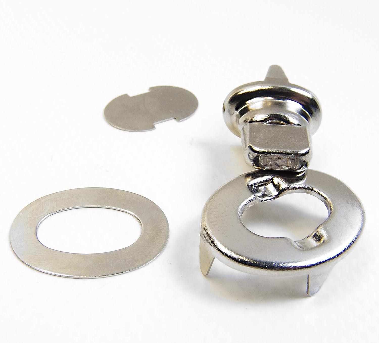 Turnボタン、Eyelet &スタッド、シングル高さ2つプロングスタッド、ファブリックスタッド 20 Piece Set 20 Piece Set  B0768NJ58K