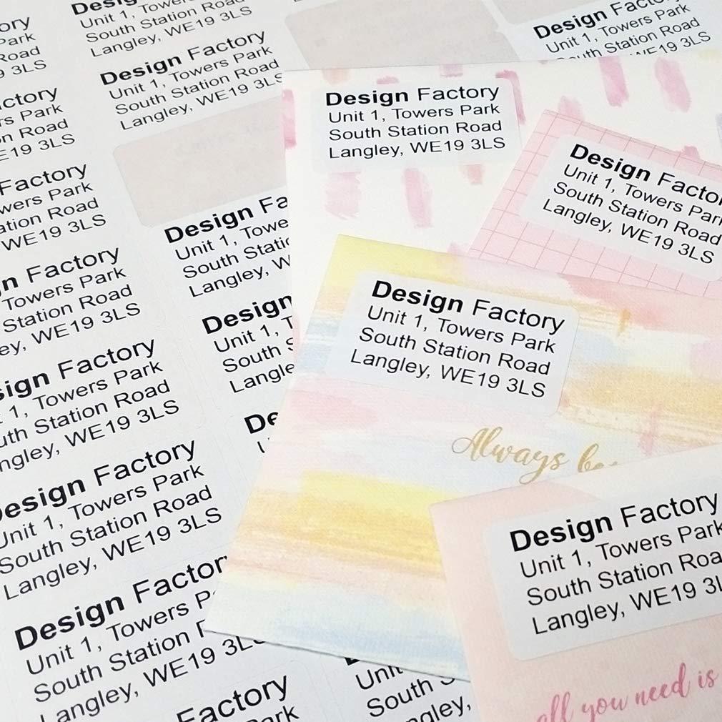 40LABELS KUNER Etichetta postale Nome Etichetta con lindirizzo Autoadesiva Adesivi con codice a barre per stampante laser 20 fogli di A4 Bianca Varie dimensioni Template gratuito