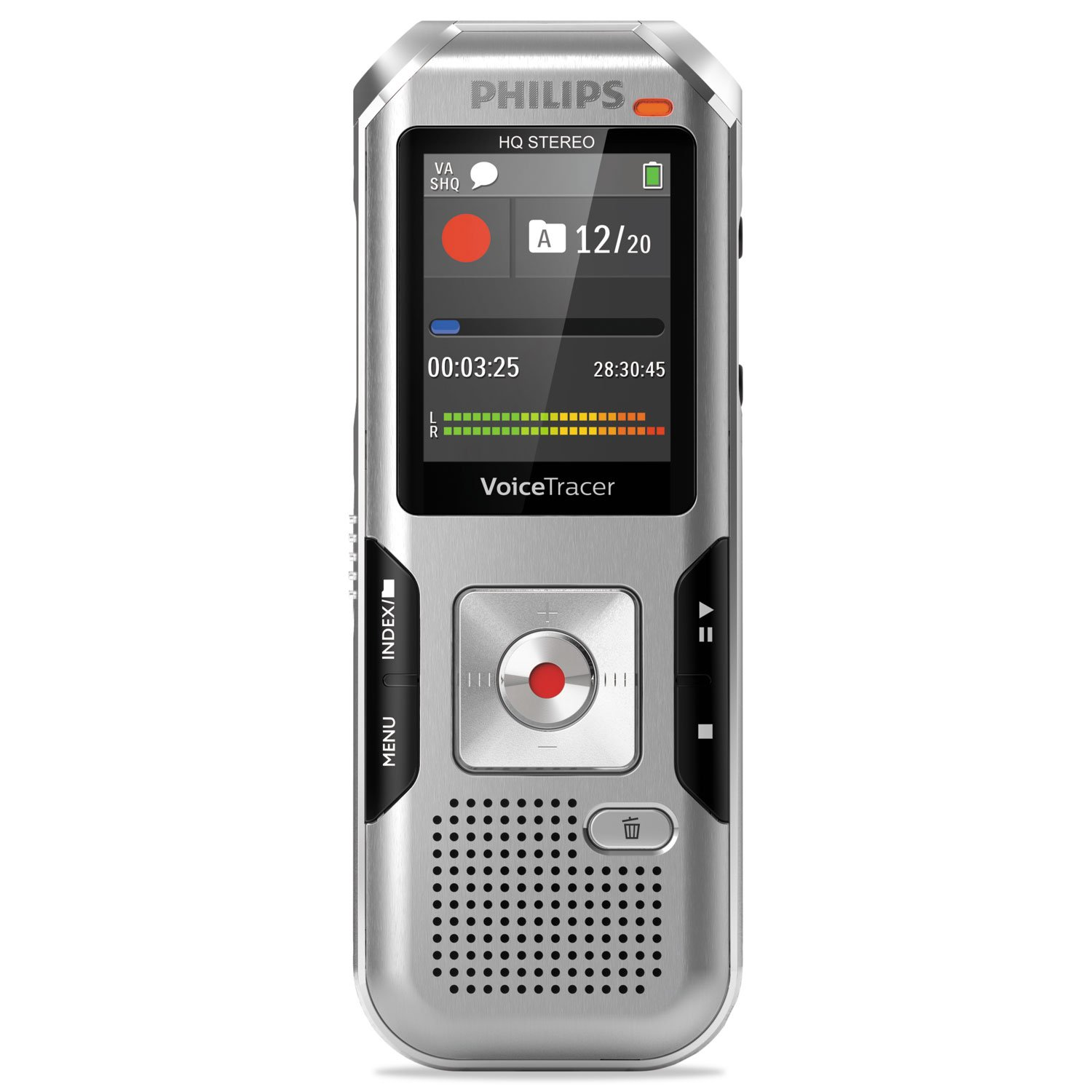 Philips DVT4010 Voice Tracer 4010 Digital Recorder, 8 GB, Silver