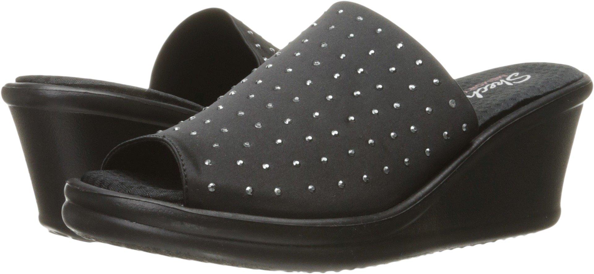 Skechers Cali Women's Rumblers-Silky Smooth Slide Sandal, Black 17, 7.5 M US