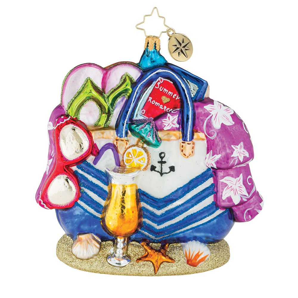 Christopher Radko Beach Bag Bounty Christmas Ornament