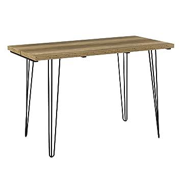 Pied De Table Epingle.En Casa Table A Manger Table De Cuisine Avec Pied Acier Epingle A Cheveux Bois 120 X 60 X 77 Cm