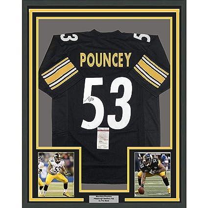 ee3693d8ec2 Signed Maurkice Pouncey Jersey - FRAMED 33x42 Black COA - JSA Certified -  Autographed NFL Jerseys