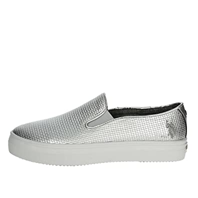 U.s. Polo Assn TRIXY4155S7/YL3 Sneakers Mujer Plata 40: Amazon.es ...