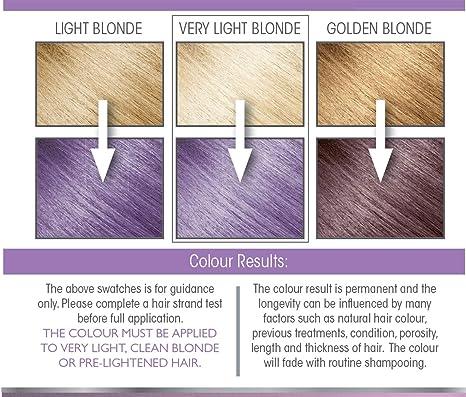 Smart Beauty Tinte de Pelo Permanente, Metálico Pastel Color con Nutritivo Nio-Active Plex Tratamiento Capilar, 150ML - Lila, 150 Milliliters