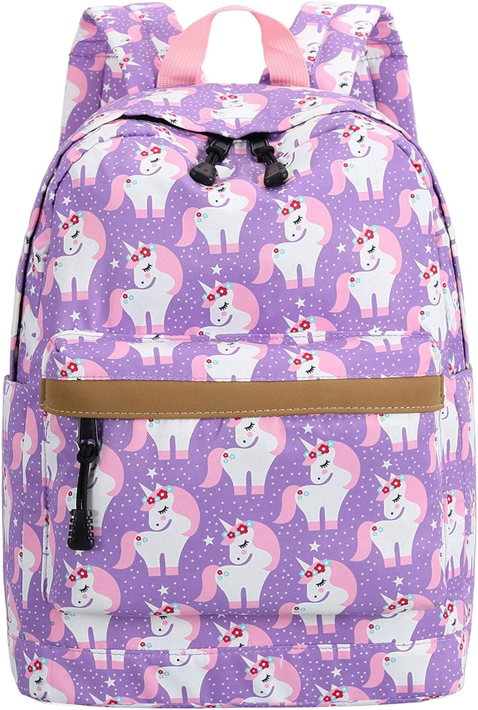 Preschool Backpack for Kids Girls Toddler Backpack Kindergarten School Bookbags (Cute unicorn-Purple)