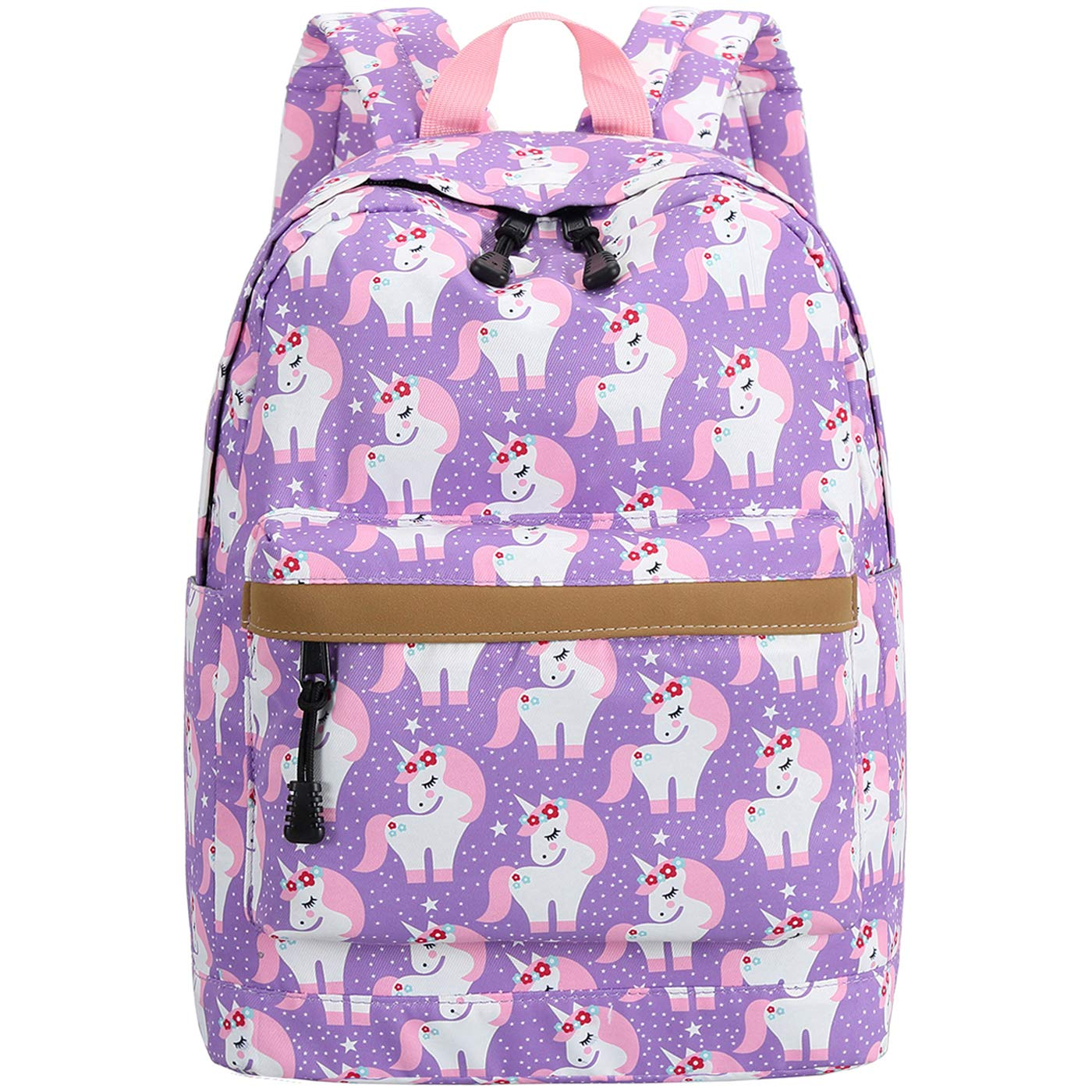 Preschool Backpack for Kids Girls Toddler Backpack Kindergarten School Bookbags (Cute unicorn-Purple) by CAMTOP