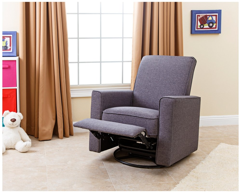 Amazon.com Abbyson Living H&ton Nursery Swivel Glider Recliner Chair in Gray Kitchen u0026 Dining & Amazon.com: Abbyson Living Hampton Nursery Swivel Glider Recliner ... islam-shia.org