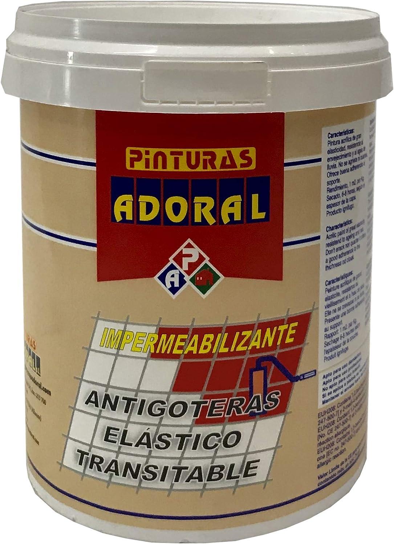 Adoral - Pintura Tela Asfáltica Transitable Terrazas y Fachadas ROJO 750 ml: Amazon.es: Bricolaje y herramientas