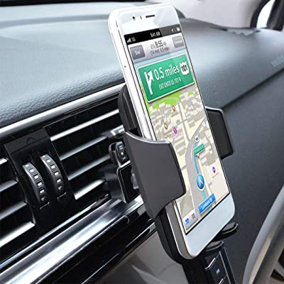 Car Cell Phone Mount,Universal Air Vent Car Phone Holder Compatible with iPhone Xs Max/XS/XR/X/8/8Plus/7/7Plus/6s/6Plus/5S,Samsung,Galaxy S6 S7 S8 S9, Google,LG,Nexus,Sony,Huawei,Nokia and More,Black [5Bkhe0413468]