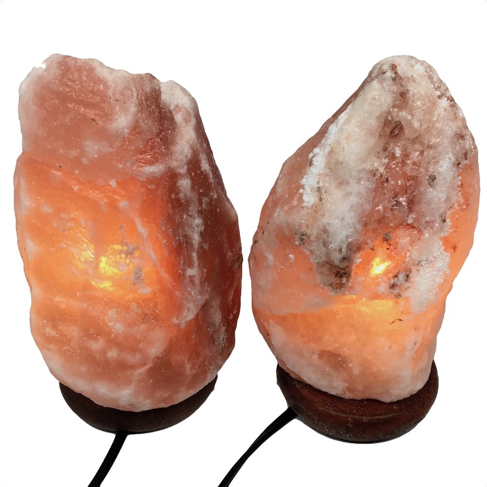 2x Himalaya Natural Handcraft Rough Raw Crystal Salt Lamp 8''-8.25''Tall, X0107, Exact Item will be Delivered