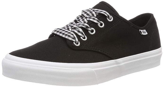 Vans Damen Camden Stripe Classic Sneaker Schwarz ((Gingham