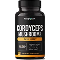 Cordyceps Mushroom Extract Capsules 1000 mg - Supports Energy, Stamina, and Endurance Supplement for Men and Women - Vegan & Gluten-Free