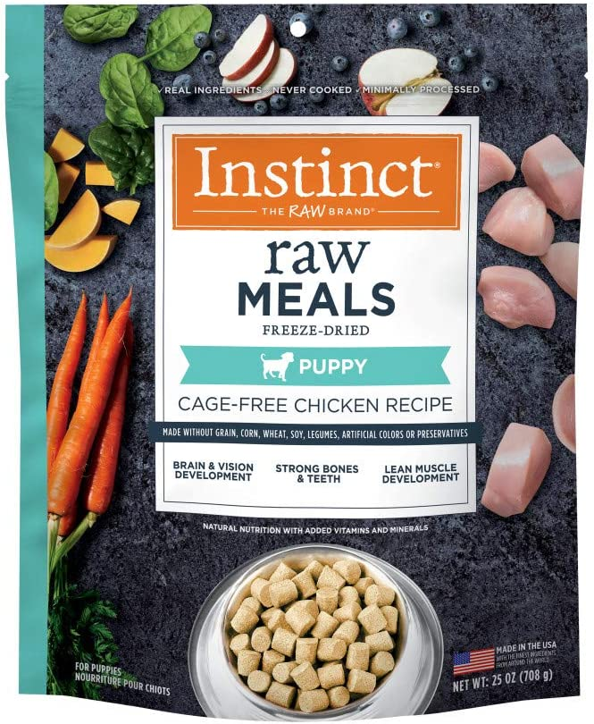 Instinct Freeze Dried Raw Meals for Puppies Grain Free Cage Free Chicken Recipe Dog Food by Nature's Variety, 25 oz. Bag