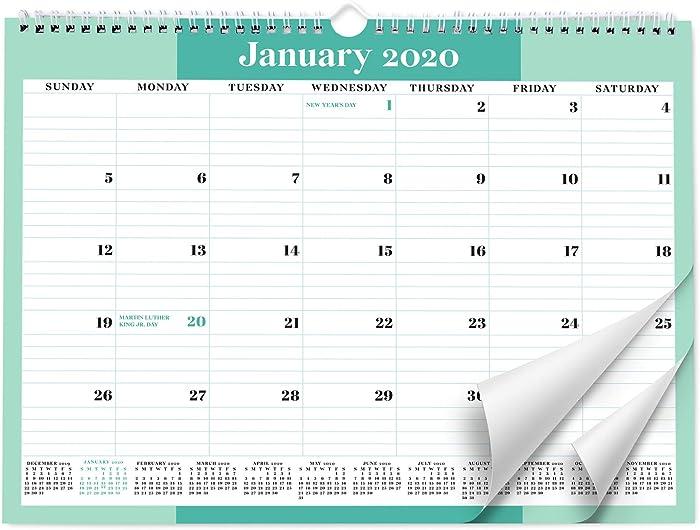 Sweetzer & Orange 2020 Calendar. 18 Month Office Wall Calendar 2020-June 2021 - Mint Business Design Monthly Planner, Daily Wall Calendars for Office Organization. 11.5 x 15 Inch Hanging Wall