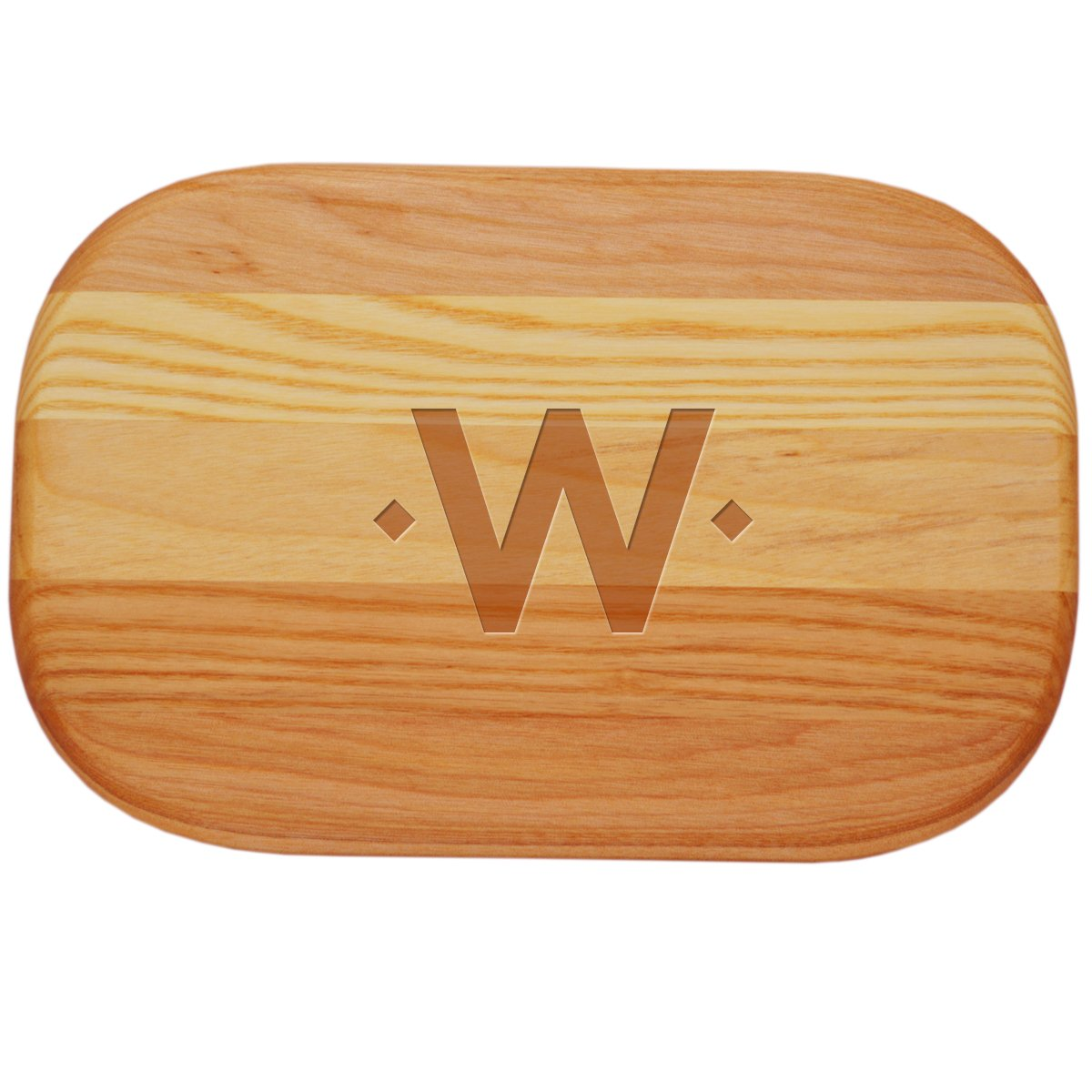 Carved Solutions 735255447071  Small Everyday Board with Etched Double Diamond initial Q.