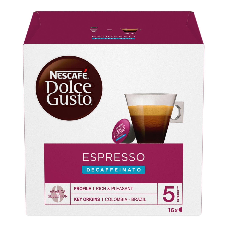 Nescafé Dolce Gusto Espresso Decaffeinato, Paquete de 6, 6 x 16 Cápsulas: Amazon.es: Hogar