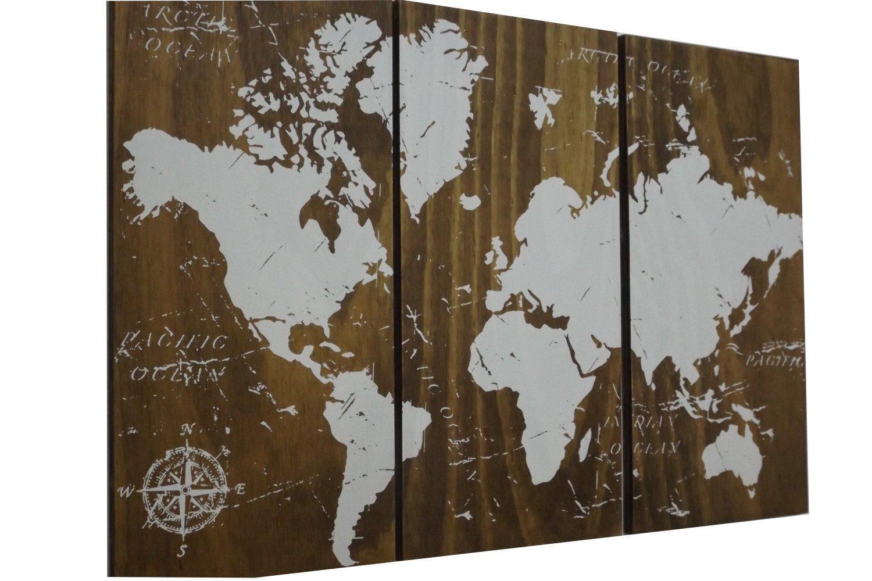 Amazon.com: World Map Push Pin Travel Map • Wall Art • World ...