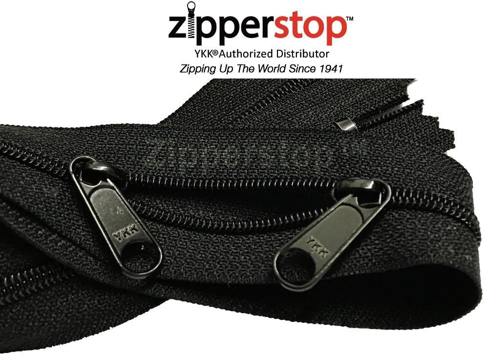 YKK BEST QUALITY BLACK METAL 8 INCH CLOSED END ZIP Zipper width size 7