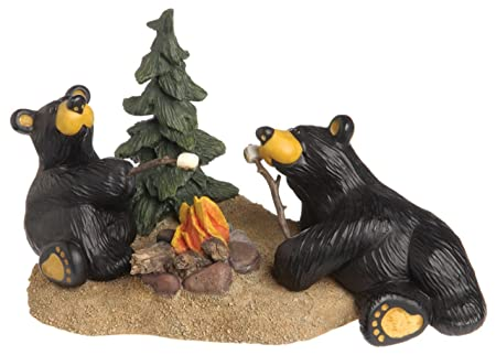 DEMDACO Campfire Memories Black Bear 4.5 x 8 Hand-cast Resin Figurine Sculpture