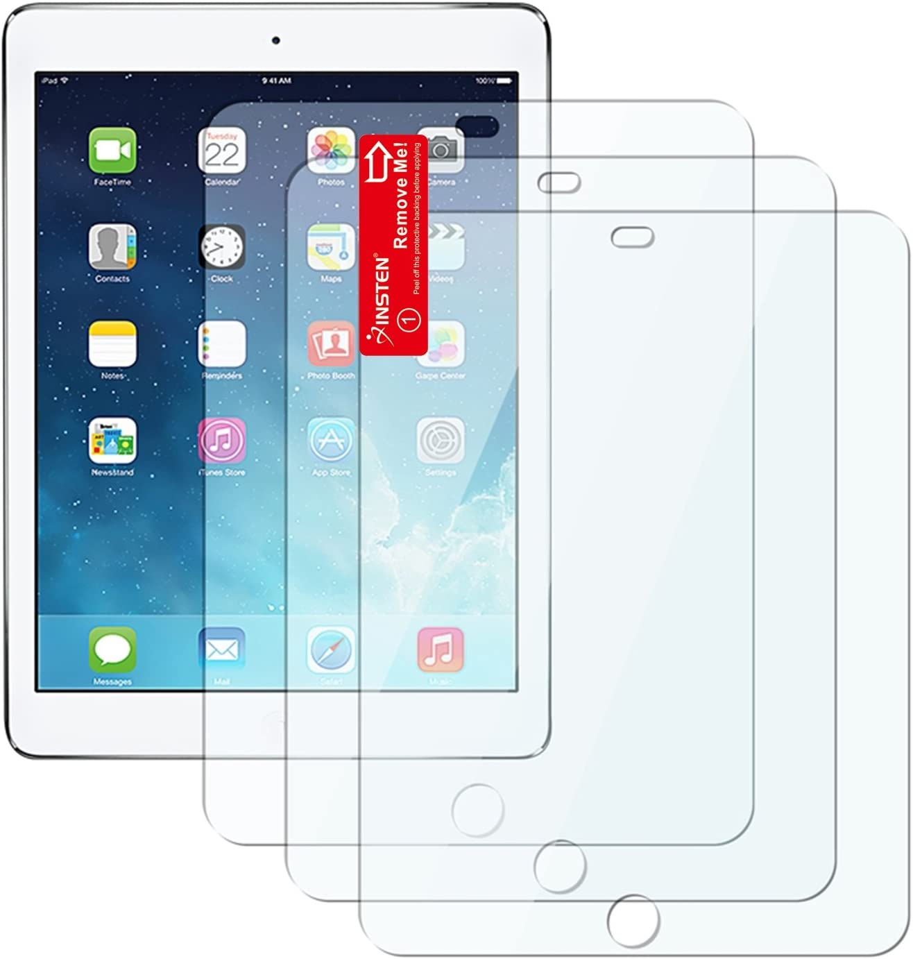 For The New iPad 3 rd Generation Clear Reusable LCD Screen Protector Film Guard