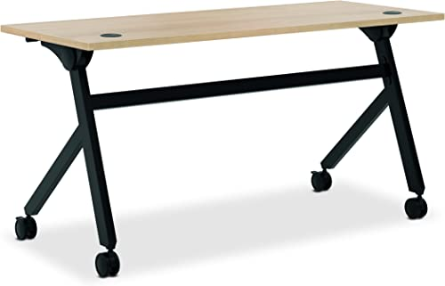 HON Assemble Flip Base Multi-Purpose Table, 60-Inch, Wheat Black HBMPT6024P