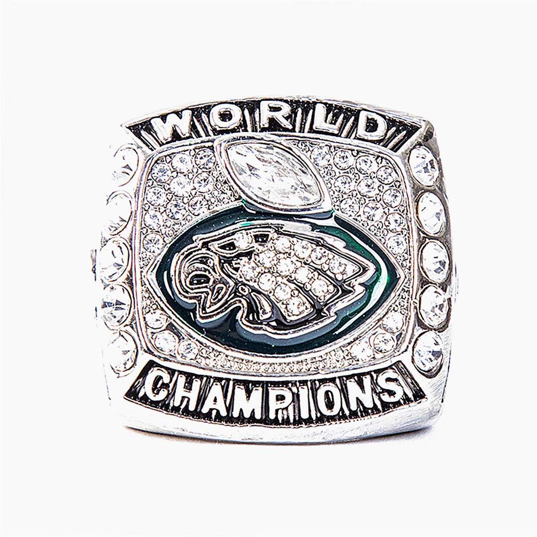 Philadelphia Eagles Fútbol Super Bowl LII Mundial Foles y Wentz Anillo de réplicas Campeonato de Madera con Estilo Caja 10 Beito