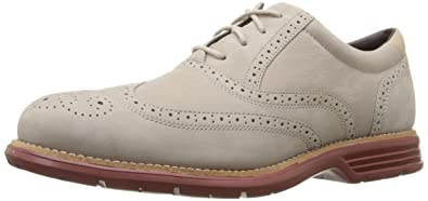 Rockport Men's Total Motion Fusion Wingtip Shoe, Rocksand, ...