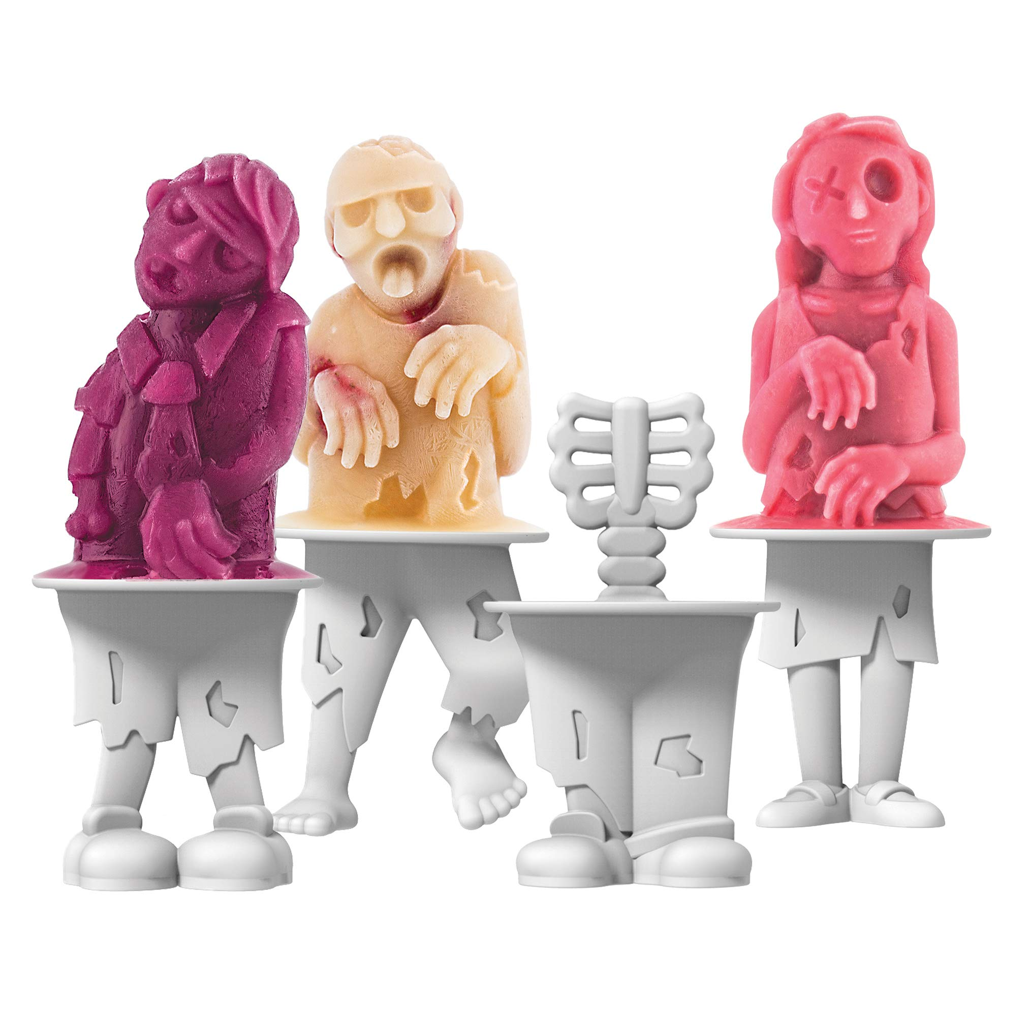 Tovolo Zombies Pop Molds, Flexible Silicone, Easily-Removable, Dishwasher Safe
