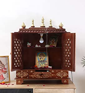 Indian Handicrafts Export Wooden Home Temple/Puja Mandir