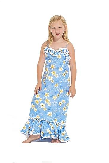 6cd20ac8451a7 Amazon.com: Hawaii Luau Long Muumuu Swirl Mermaid Dress with Ruffles ...