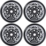 AOWISH 4-Pack Inline Skate Wheels Outdoor Asphalt Formula 85A Blades Roller Skates Replacement Wheels with Speed…