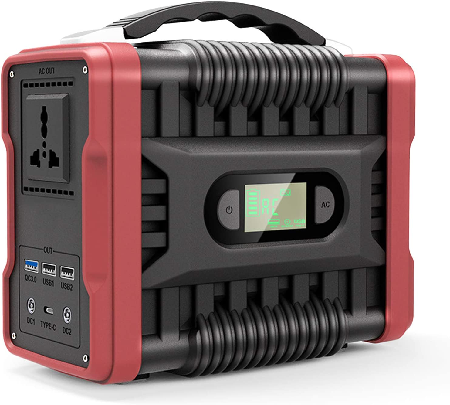 TGHY 200W Portable Power Station 222Wh Outdoor Lithium Battery Pack Solar Generator Emergency Backup Power Supply 60000mAh Heavy Duty Waterproof for Outdoors Camping Fishing Hunting