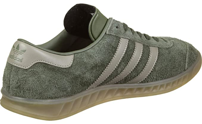 sports shoes 86dc0 e6ee8 Amazon.com Adidas Hamburg Womens Sneakers Khaki Clothing