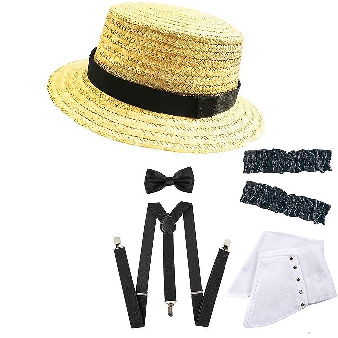 1920s Mens Gangster Gatsby Straw Hat dfc88168b23e