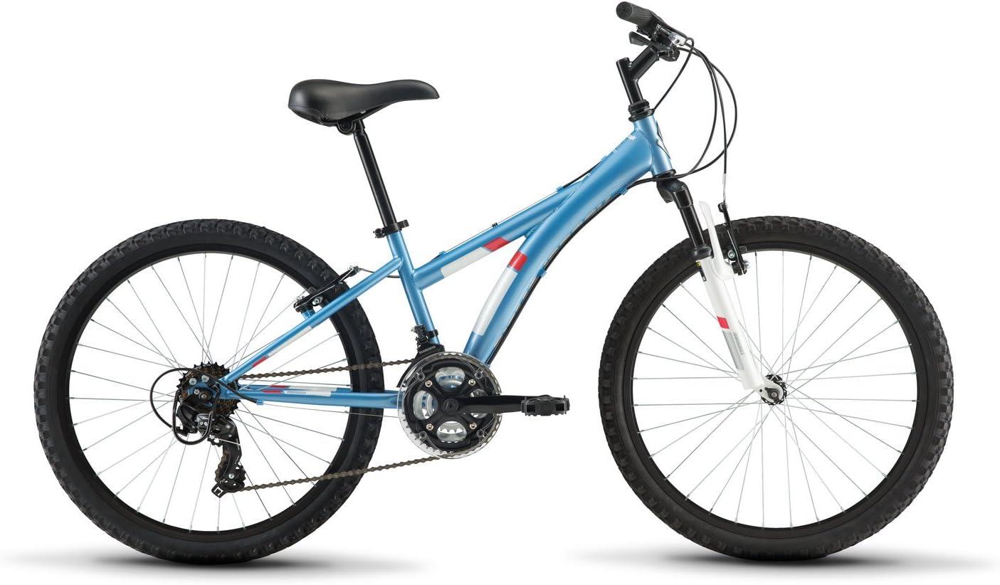Diamondback Bicycles Tess 24 Youth Girls 24 Wheel Mountain Bike, Blue