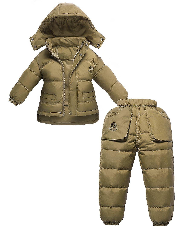 678d261f19a2 ZOEREA 2 pezzi bambino piumino unisex tuta da sci per bambino invernale  giacca bambina snowsuit snowboard