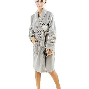 Bong Buy Women s Cute Totoro Bathrobe Robe- Soft Plush Comfy House Sleepwear 381ab1340