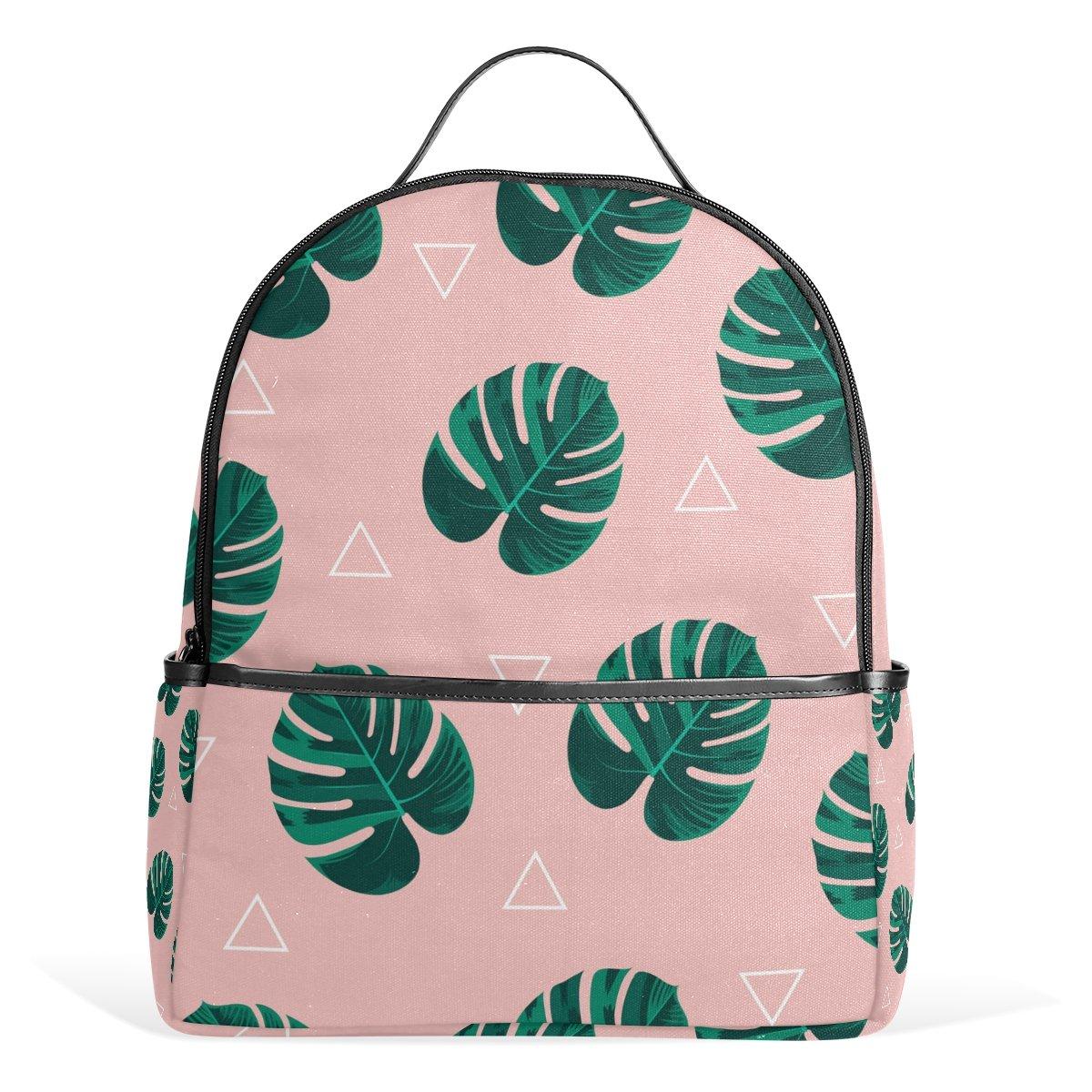 Tropical Leaves Backpack For Women Girls Kids Small Backpacks Travel