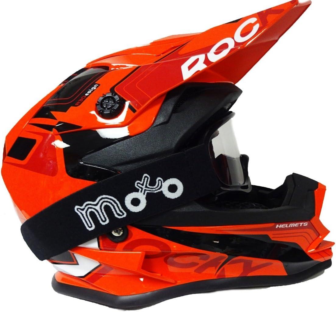 MX off Road Scooter Enduro Quad Casco Motocross ATV PITBIKE Kids Helm con X1 Occhiali 3GO Nuovo Caschi Moto K-188 Rocky Casco Bambini Moto