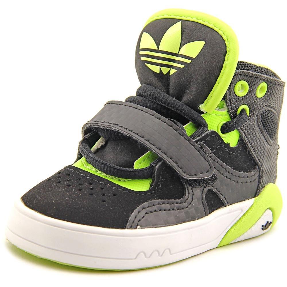 Adidas Roundhouse Mid I Toddler US 4 Black Basketball Shoe