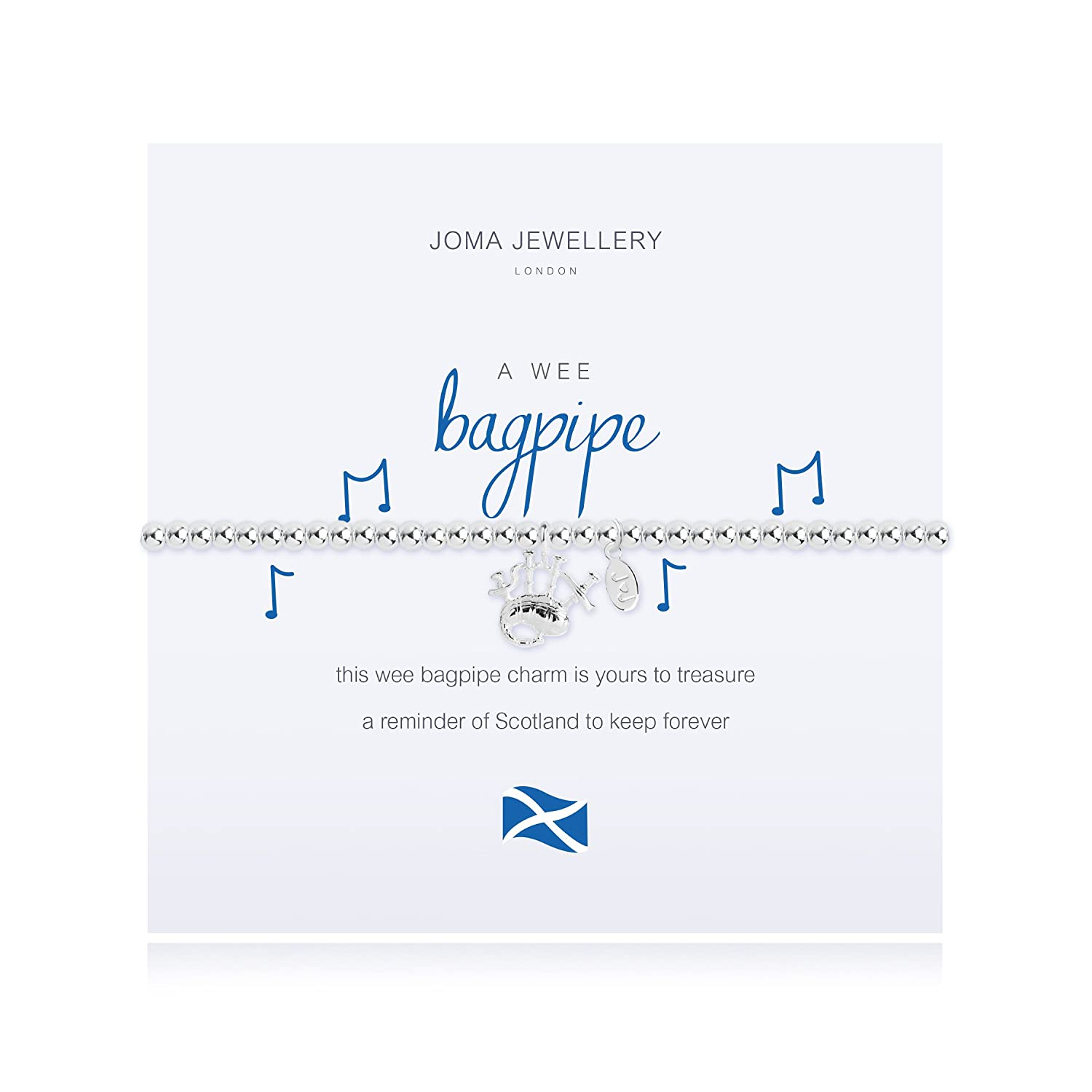 Joma Jewellery A wee Bagpipe Bracelet with Gift Bag giP86dcD