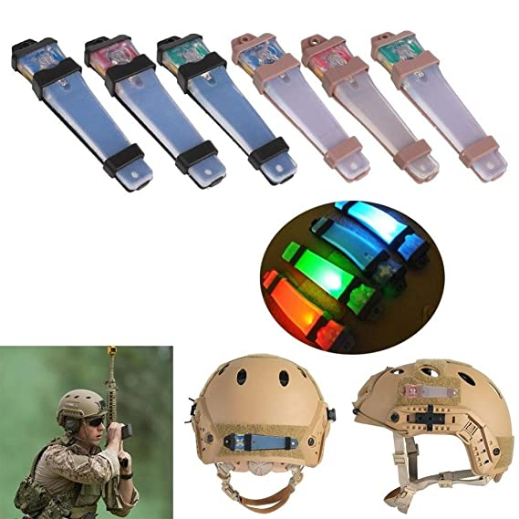 Tactical Flashlight Helmet - Army Tactical Helmet - Hunting Tactical FMA Helmet Safety Flashing for Bike Sports Driving - Green (Hunting Helmet Led Light) ...
